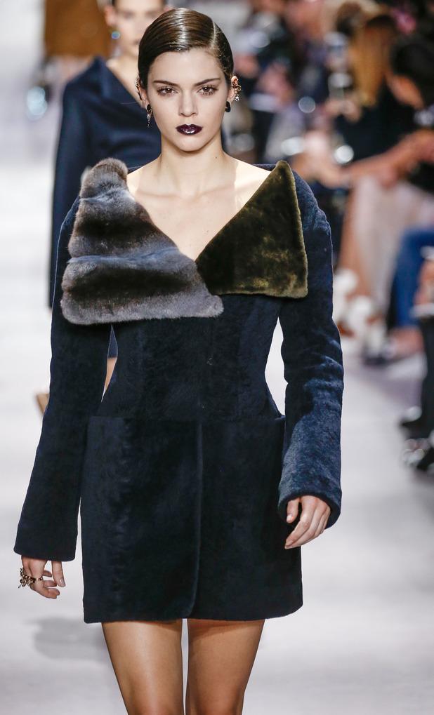Kendall Jenner walking for Dior at Paris Fashion Week, 3/4/16