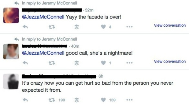 Jeremy McConnell liked tweets hint at Stephanie Davis split, Twitter 4 May