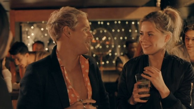 Made In Chelsea: Frankie and Jamie at a party. 2 May 2016.