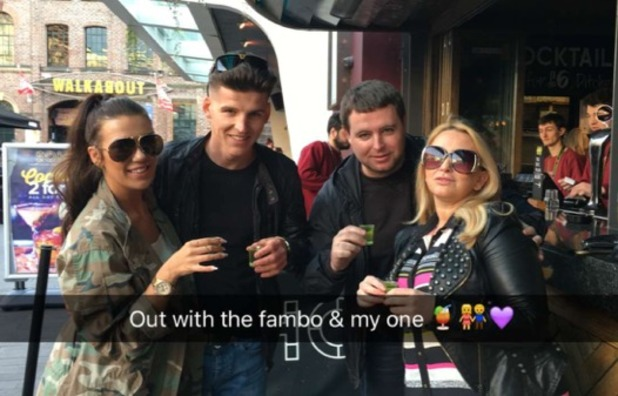 Imogen Townely and boyfriend Louis Harding with her cousin 3 May