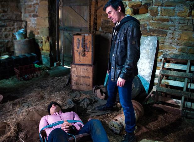 Emmerdale, Cain kidnaps Rakesh, Tue 10 May