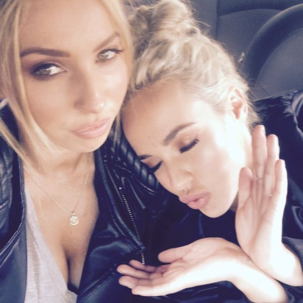 Stephanie Davis pictured in a car with female pal after apparent split with Jeremy McConnell - 4 May 2016