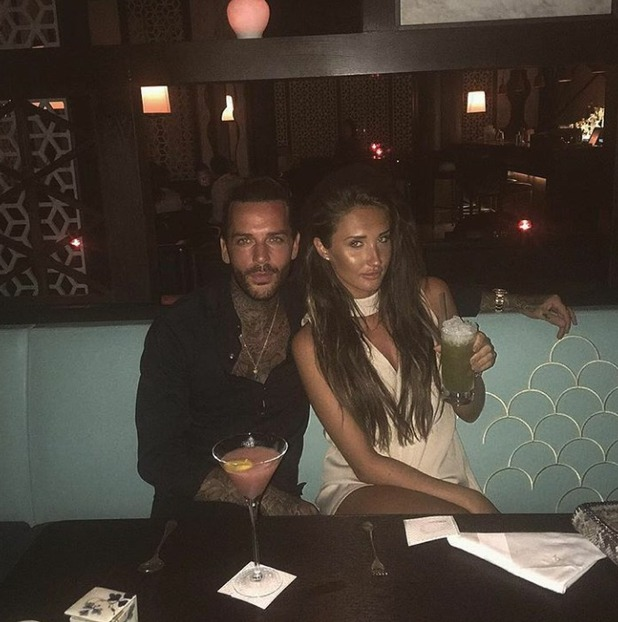 Pete Wicks and Megan Mckenna enjoying last night in Dubai, 07/5/16, Instagram