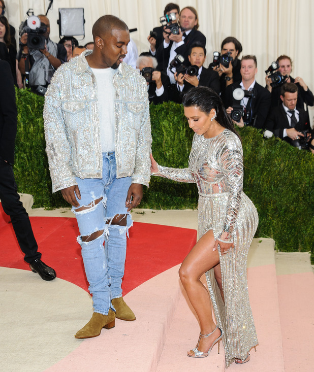 Kim and Kanye - Metropolitan Museum of Art Costume Institute Gala - Manus x Machina: Fashion in the Age of Technology. 2 May 2016.