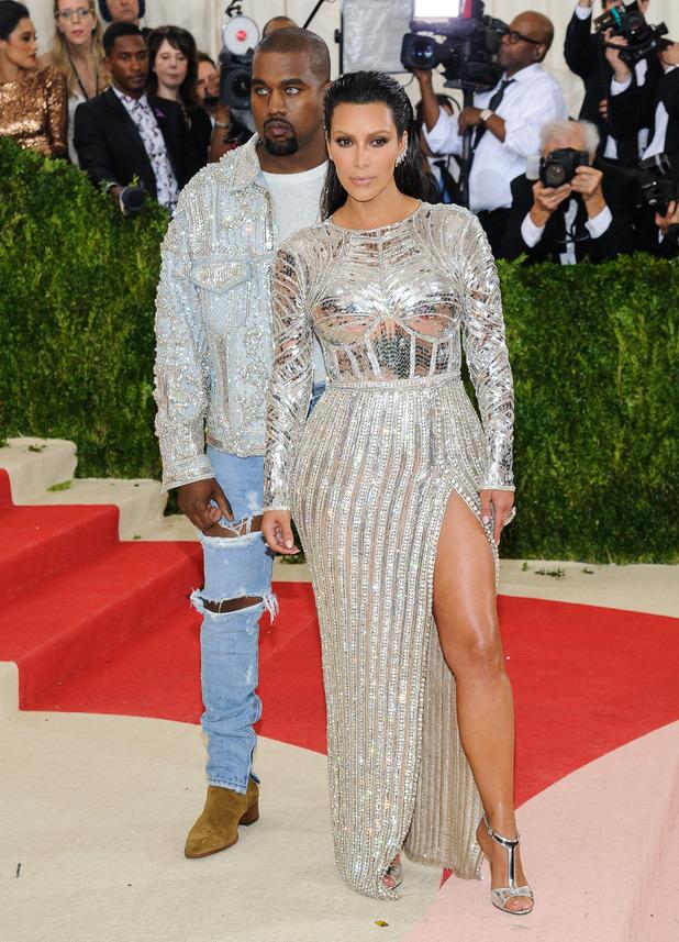 Kanye West, Kim Kardashian: Metropolitan Museum of Art Costume Institute Gala - Manus x Machina: Fashion in the Age of Technology. 05/02/2016