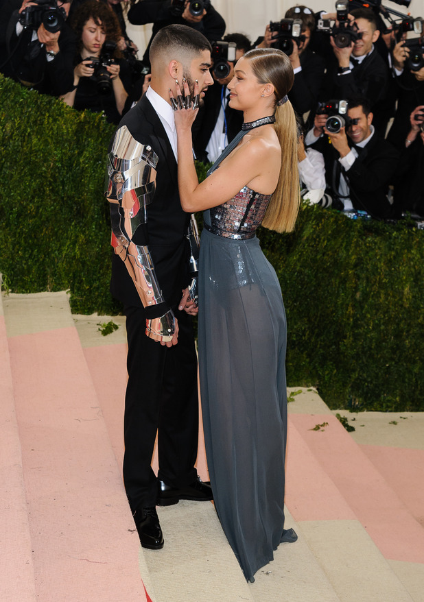 Zayn Malik and Gigi Hadid - Metropolitan Museum of Art Costume Institute Gala - Manus x Machina: Fashion in the Age of Technology at the Metropolitan Museum of Art.2 May 2016 - New York City, United States