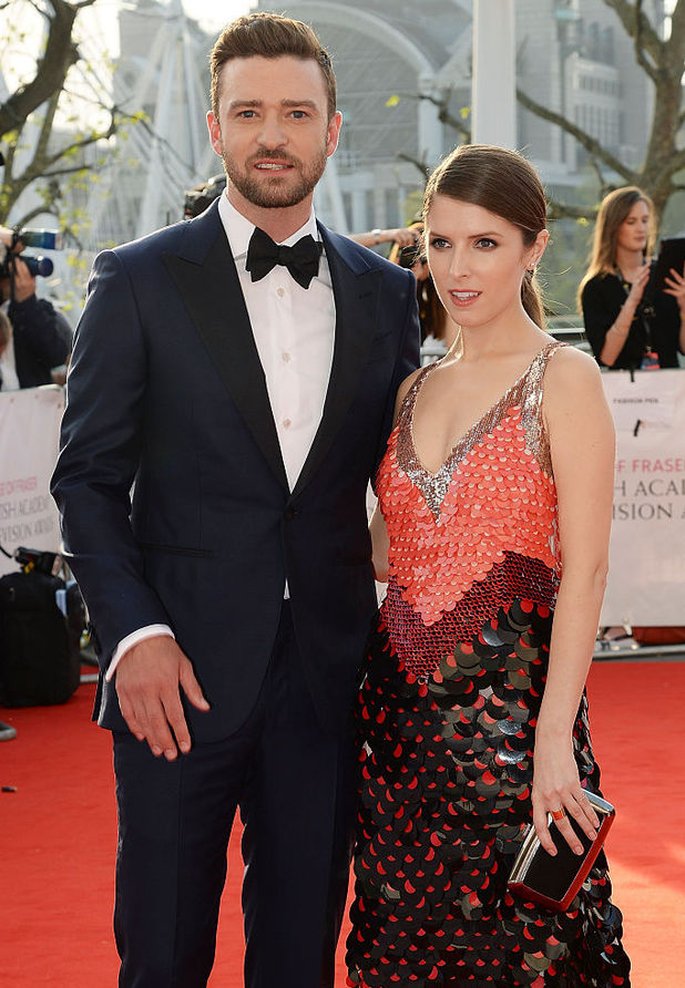 Anna Kendrick (R) and Justin Timberlake attend the House Of Fraser British Academy Television Awards 2016 at the Royal Festival Hall on May 8, 2016