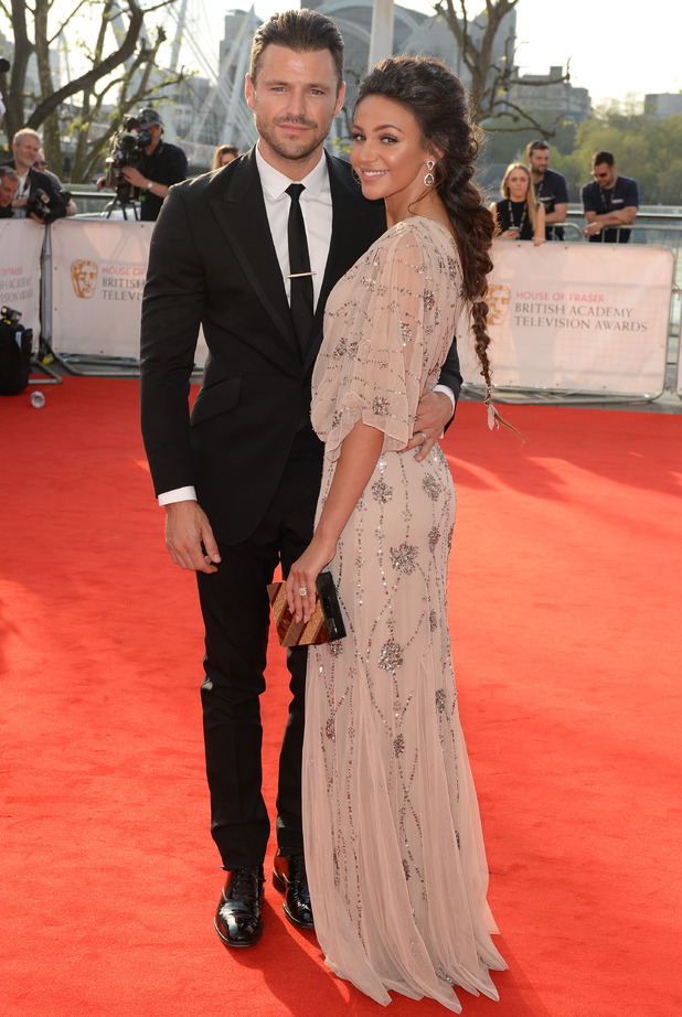 House of Fraser British Academy Television Awards, Arrivals, Royal Festival Hall, London, Britain - 08 May 2016 Mark Wright and Michelle Keegan