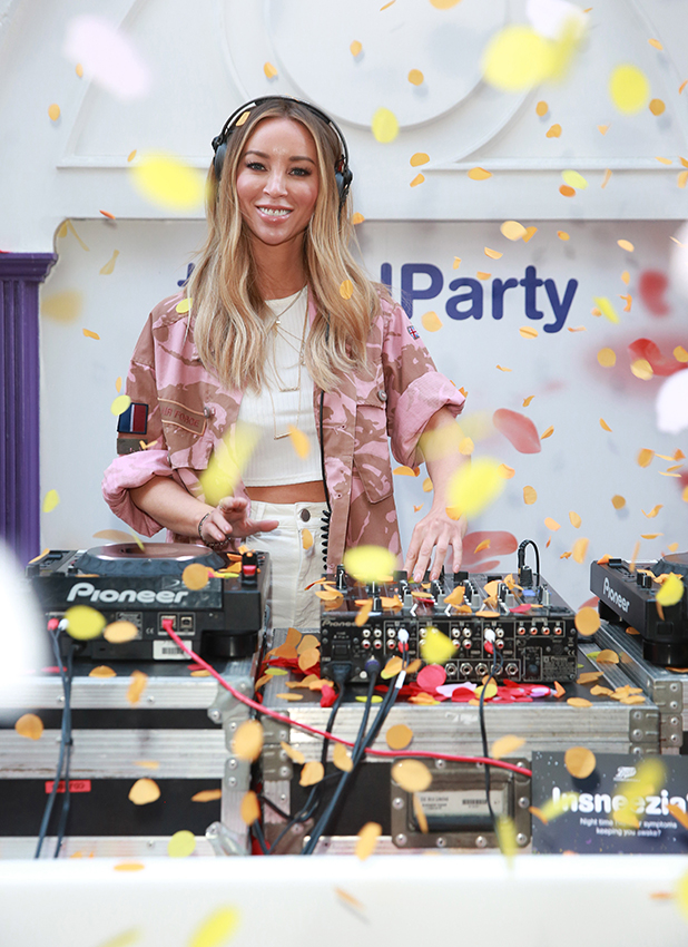 Lauren Pope releases petals for Boots' Petal Party London, 4 May 2016