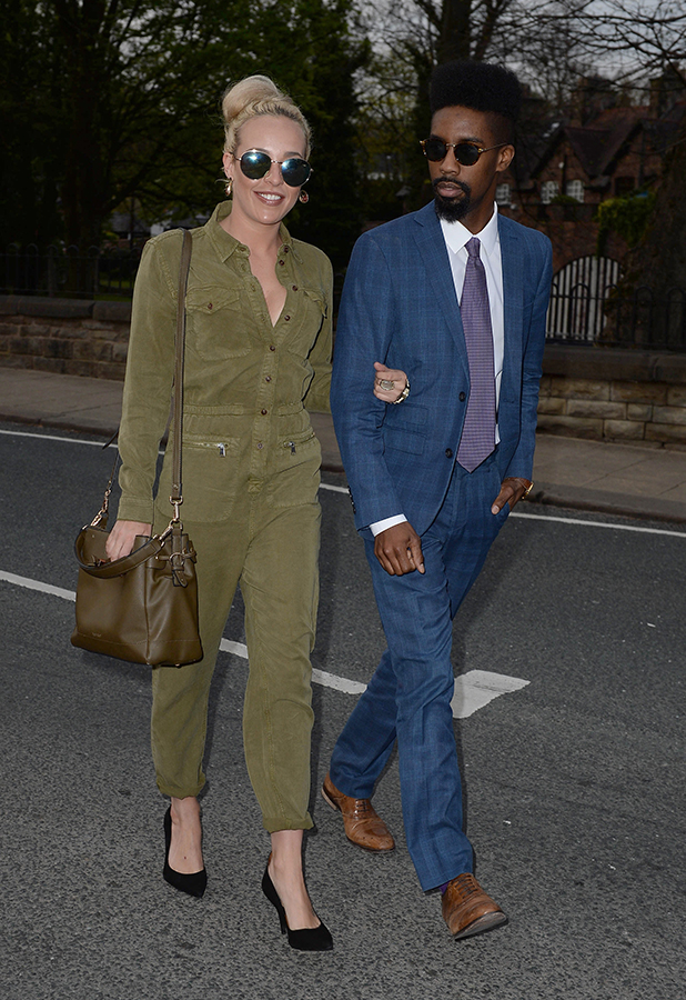 Stephanie Davis steps out with Jsky at George's Summer Launch Party, Worsley, Manchester 5 May 2016