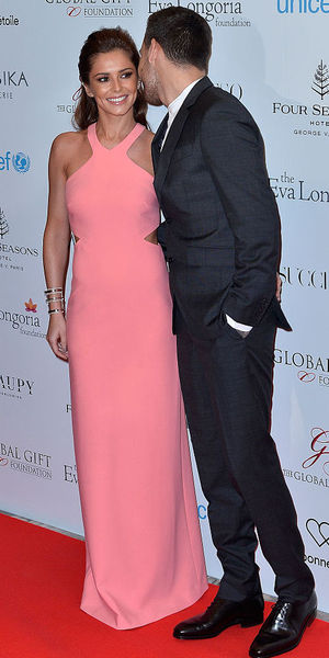 Cheryl-Fernandez-Versini and Liam Payne attend the Global Gift Gala photocall at Four Seasons Hotel George V, Paris 9 May