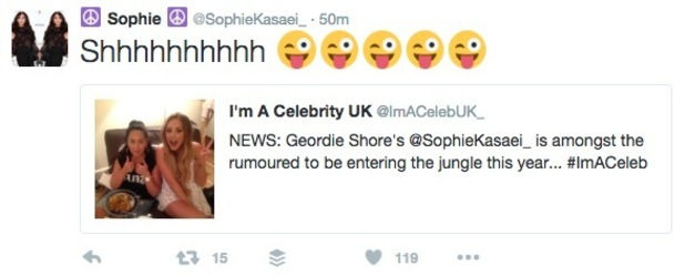 Sophie Kasaei hints she could be on I'm A Celebrity 11 May