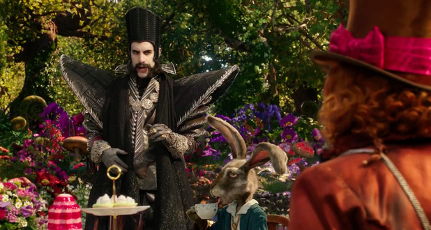 Alice Through The Looking Glass still starring Sacha Baron Cohen as Time