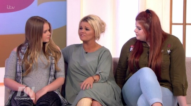 Kerry Katona joined by daughters Molly and Lilly-Sue McFadden on Loose Women London, ITV, 11 May 2016