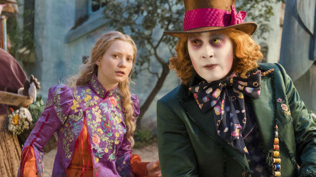 Alice Through The Looking Glass still starring Johnny Depp as Mad Hatter and Mia Wasikowska as Alice