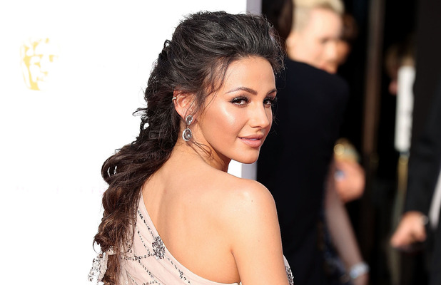 Michelle Keegan shows off her stunning glowing make-up look at the BAFTAs in London, 8th May 2016