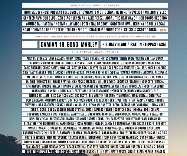 Outlook Festival 2016 line up.