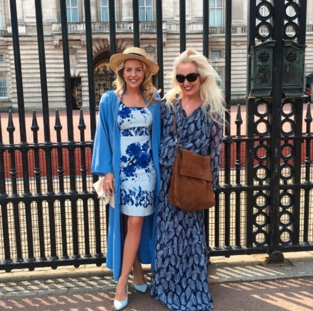 TOWIE's Lydia Bright wears £22 jacket from Pretty Little Thing to Buckingham Palace, 12th May 2016
