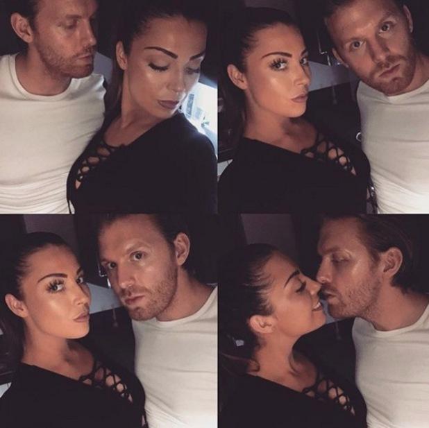 Abi Clarke with boyfriend Rob 31 December 2015