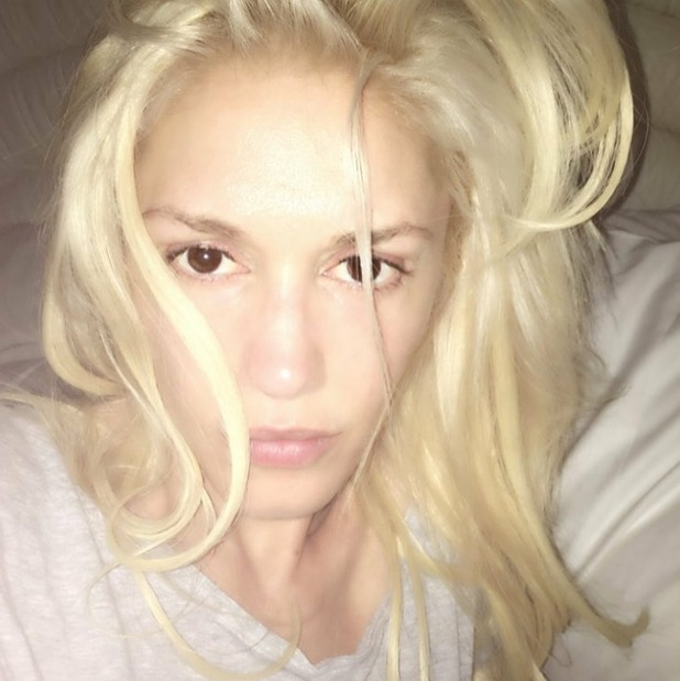 Gwen Stefani's no make-up selfie, Instagram, 14/5/16