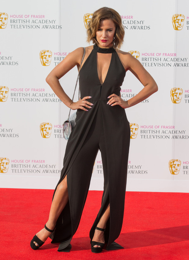 Caroline Flack on the red carpet at the BAFTA Awards in London, 8th May 2016