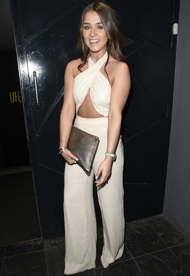 Coronation Street star Brooke Vincent celebrates her birthday in Manchester, 8th May 2016