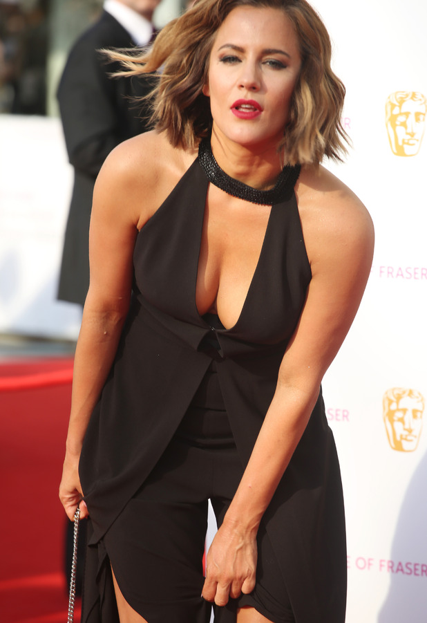 Caroline Flack defends her BAFTA outfit on Instagram after suffering slight wardrobe malfunction, 8th May 2016