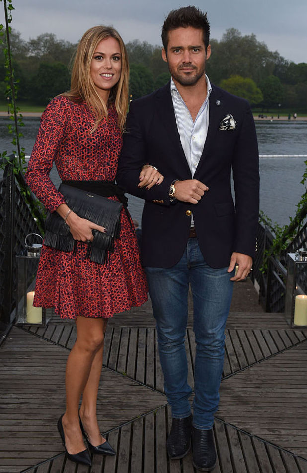 Spencer Matthews and Morgane Robart attend the launch of 'The Explorer Collection' by Taylor Morris Eyewear at The Serpentine Lido Terrace, Hyde Park 11 May