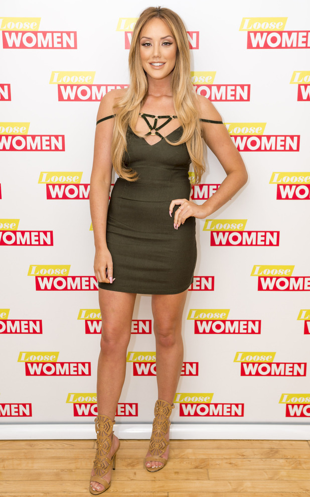 Geordie Shore star Charlotte Crosby wears dress from her own In The Style Collection on Loose Women, 10th May 2016