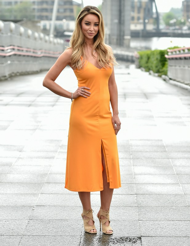 Lauren Pope photocall ahead of the TOWIE star and entrepreneur delivering a speech at The Business Show at the Excel London 11 May 2016