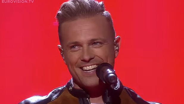 Nicky Byrne at Eurovision semi final in Stockholm, 12 May 2016