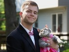 This man couldn't get a prom date so he took his cat!