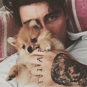 Jeremy McConnell and puppy Simba 2 May