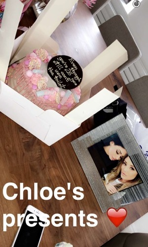Charlotte Crosby's birthday presents from Chloe Ferry, Snapchat 17 May