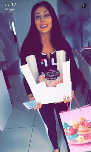 Chloe Ferry shows off new nose on Charlotte Crosby's Snapchat 17 May