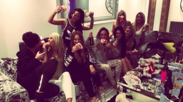 Charlotte Crosby celebrates 26th birthday with girls' night in - 17 May 2016