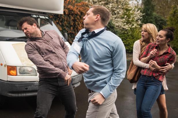Hollyoaks, John Paul punches Pete, Thu 19 May