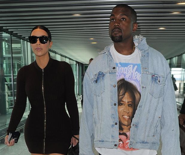 Kim and Kanye at Heathrow