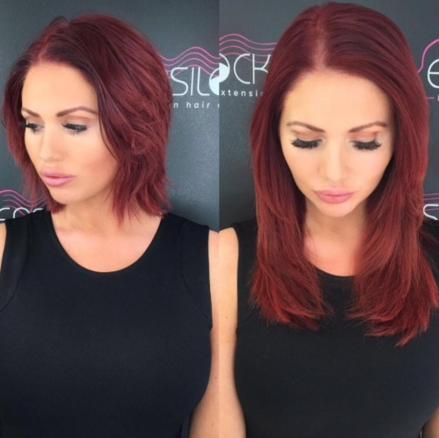 Amy Childs flaunts new Easilocks hair extensions, by Shane O'Sullivan, 19 May 2016