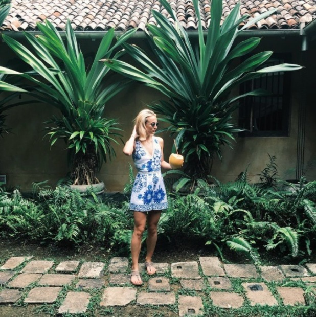 Made In Chelsea's Tiffany Watson wears Quiz Clothing playsuit on holiday in Sri Lanka, £24.99, 18th May 2016