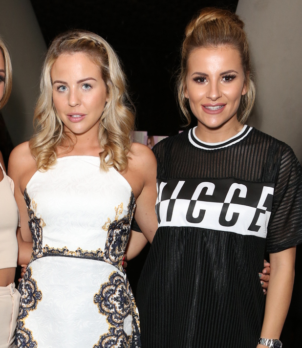 Lydia Bright and Georgia Kousoulou at Ferne Mccann's book launch - 18 May 2016