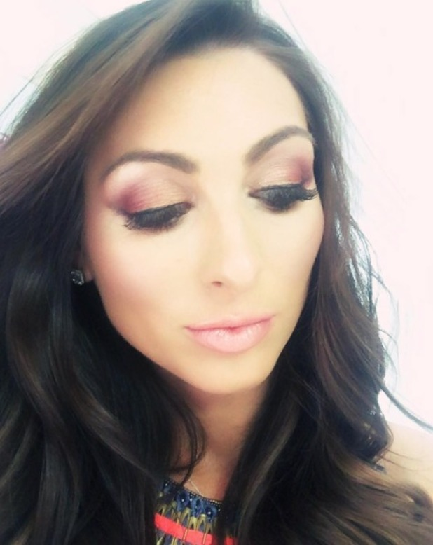 Luisa Zissman close-up of make-up at Care After Combat ball, Dorchester Hotel, London, 19 May 2016