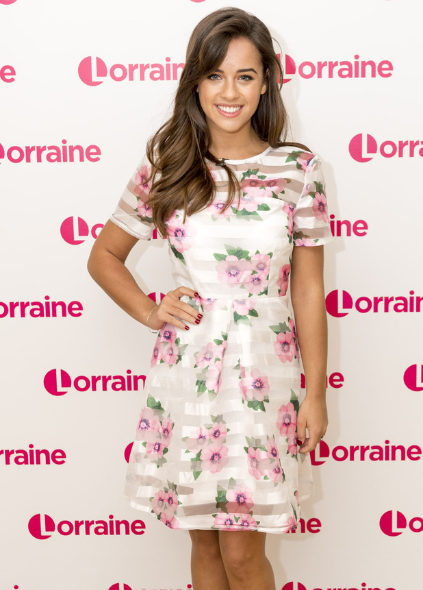 Strictly's Georgia May Foote wears AX Paris on Lorraine, 18th May 2016