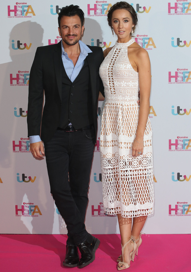 Peter Andre and Emily MacDonagh at Lorraine Kelly's High Street Fashion Awards held at the Grand Connaught Rooms - Arrivals - 17 May 2016