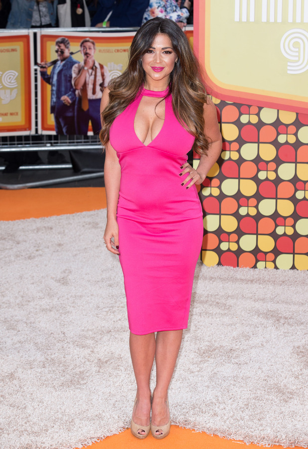 Casey Batchelor wears AX Paris dress to The Nice Guy premiere in London, 19th May 2016