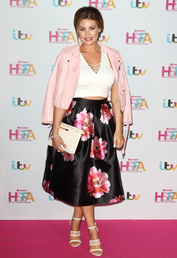 Former TOWIE star Jess Wright attends the Lorraine High-Street Fashion Awards at the Connaught Rooms in London, 17th May 2016