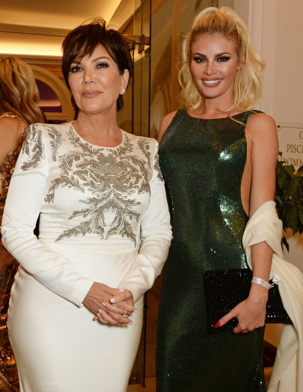Kris Jenner (L) and Chloe Sims attend the de Grisogono party during the 69th Cannes Film Festival at Hotel du Cap-Eden-Roc on May 17, 2016 in Cap d'Antibes, France. (Photo by David M. Benett/Dave Benett/Getty Images)