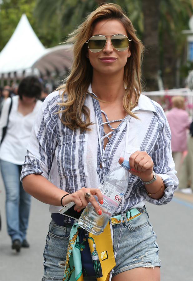 Ferne McCann seen in Cannes on May 13, 2016 in Cannes, France. (Photo by Neil Mockford/Alex Huckle/GC Images)