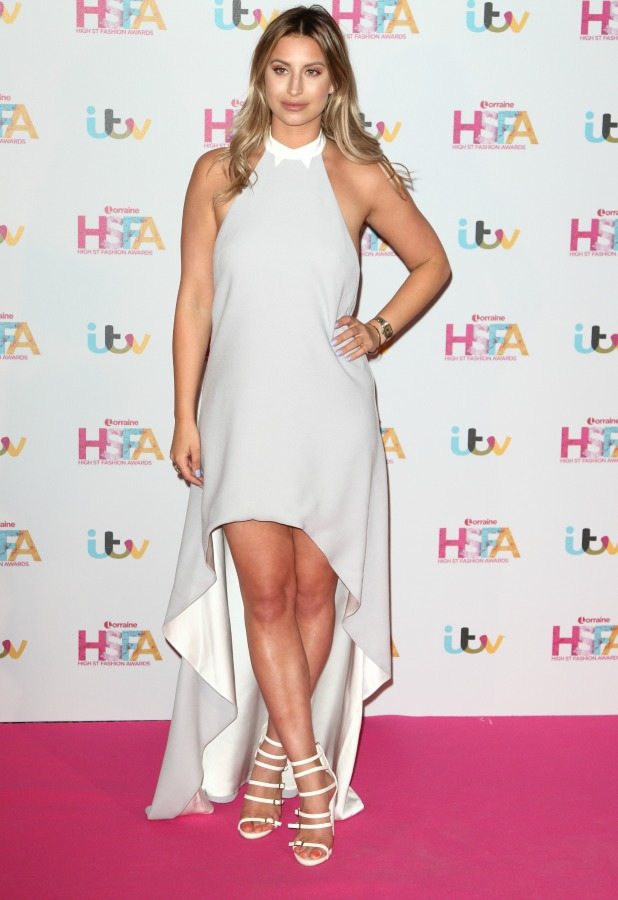 Lorraine High Street Fashion Awards at the Grand Connaught Rooms, London Ferne McCann 17 May 2016