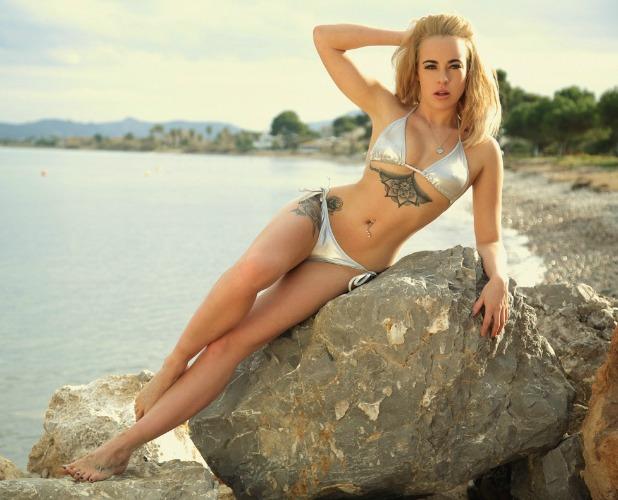 Stephanie Davis poses in swimwear as new Forza brand ambassador May 2016